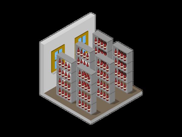 Wine storage rack Illustration