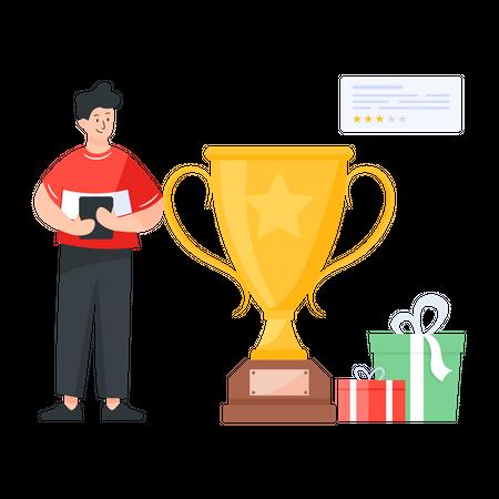 Winner of the reward program Illustration