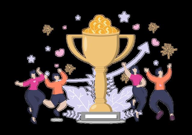 Winner Reward Illustration