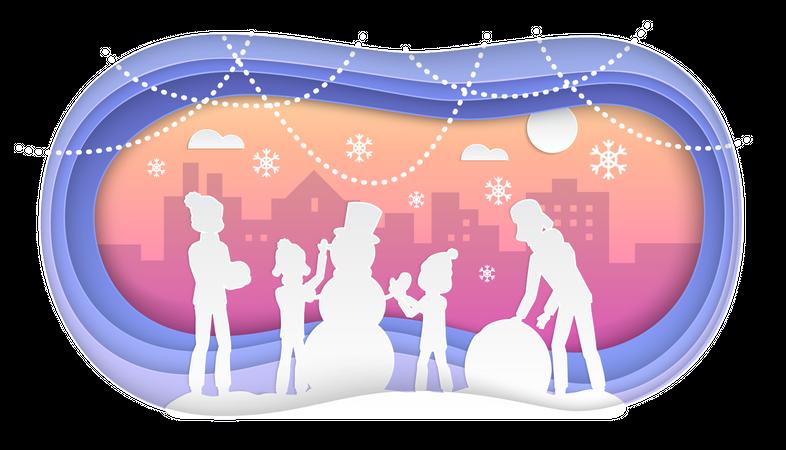 Winter fun Illustration