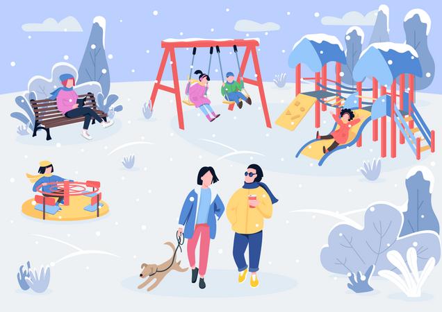 Winter park Illustration