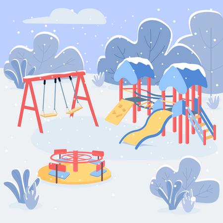 Winter play area Illustration