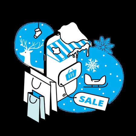 Winter sale Illustration