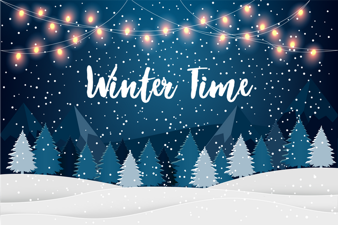 Winter time Illustration