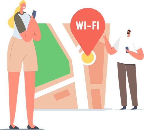 Wireless Internet Connection Illustration
