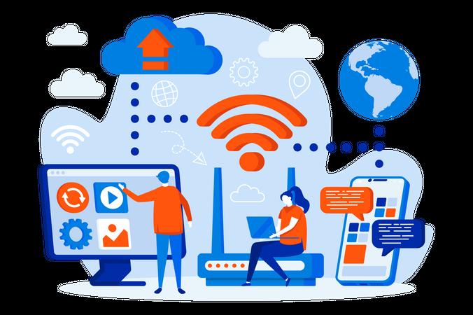 Wireless technology Illustration