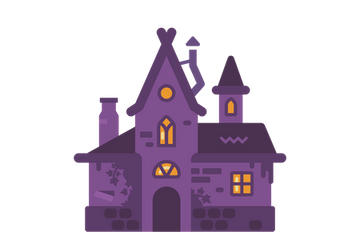 Halloween Haunted Houses Stock Images
