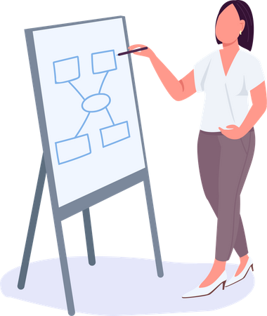 Woman at business meeting Illustration