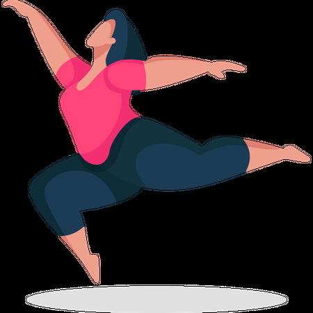 Woman dancing Illustration