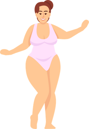 Woman in swimsuit Illustration