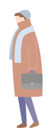 Woman in winter clothes Illustration