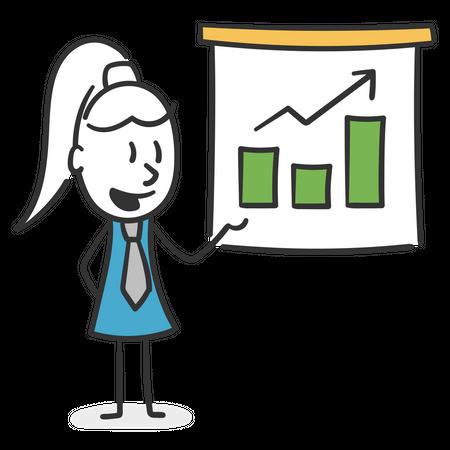 Woman making a presentation Illustration