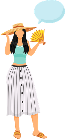 Woman wearing summer outfit Illustration