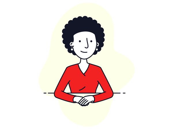 Women in a video conference Illustration