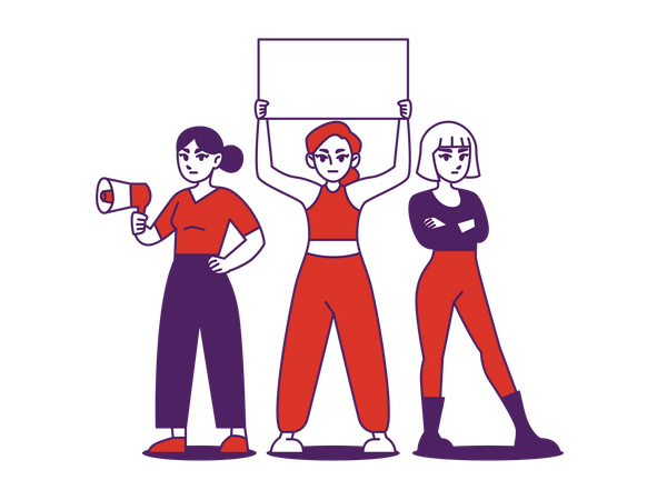 Women March Illustration