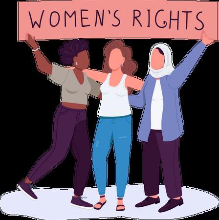 Women rights Illustration