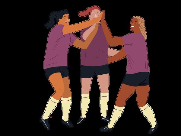 Women's European footballer Illustration
