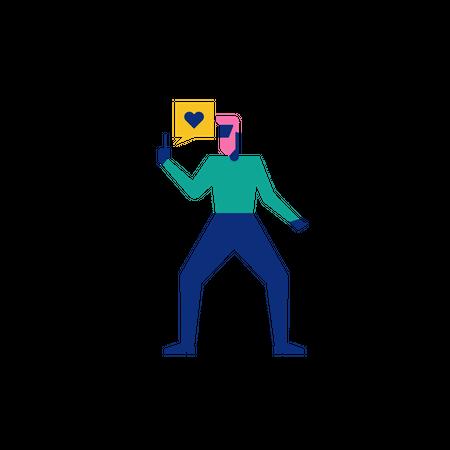 Woohoo Shopping Characters holding smart phone Illustration