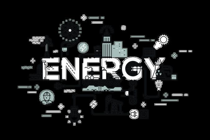 Word energy Illustration