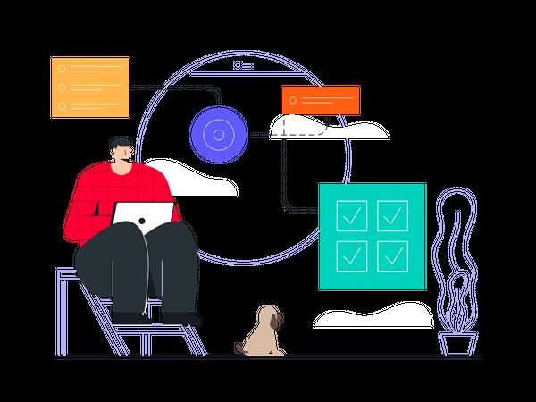 Work Automation Illustration