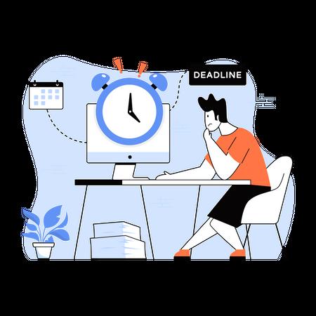 Work Deadline Illustration