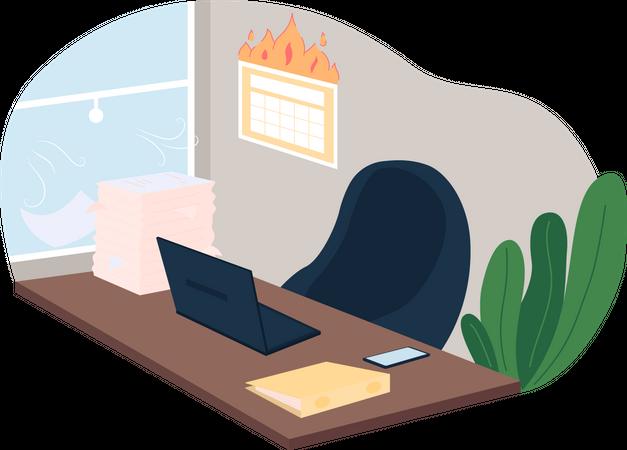 Work deadline and workload Illustration
