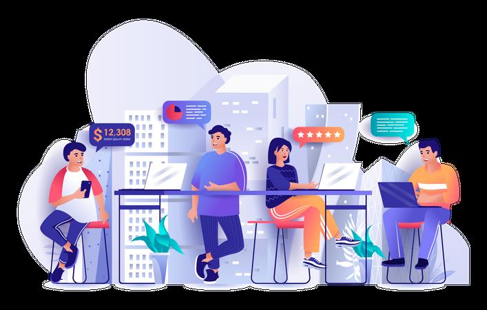 Work Discussion Illustration
