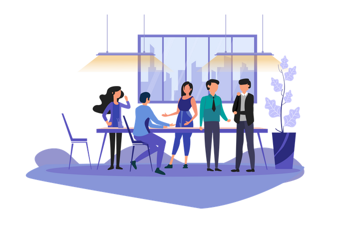 Work Discussions Illustration