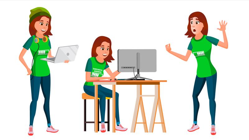 Work Environment Illustration