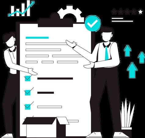 Work management task Illustration