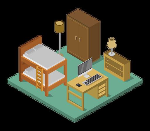 Work room Illustration
