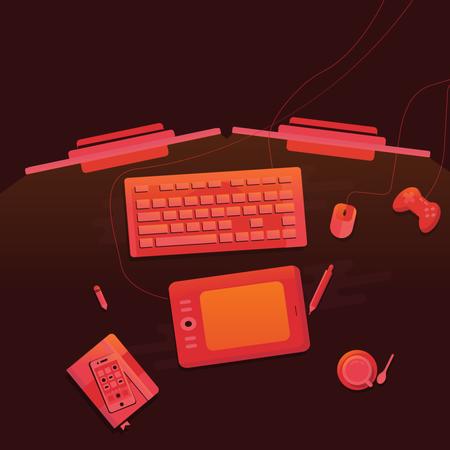 Work spac Illustration