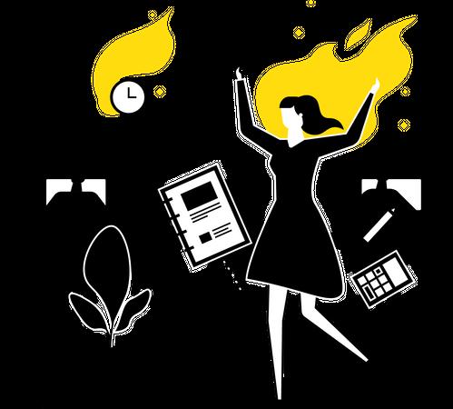 Work stress Illustration
