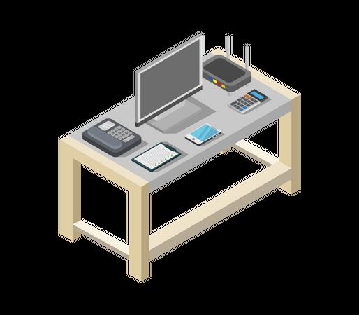 Work table Illustration