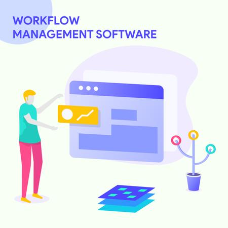 Workflow Management Software Illustration