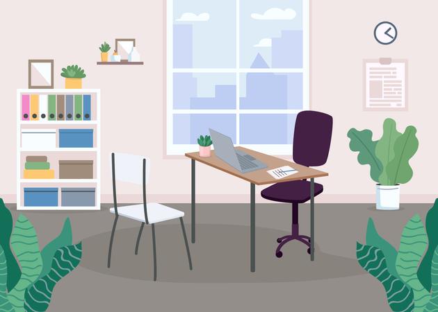 Working area Illustration