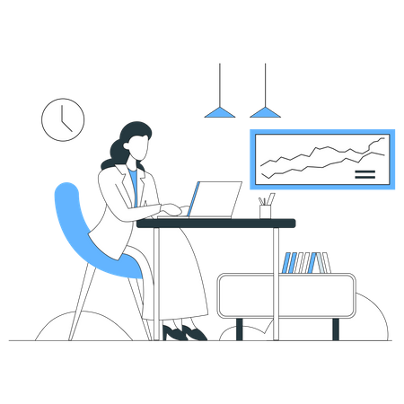 Working chart Illustration