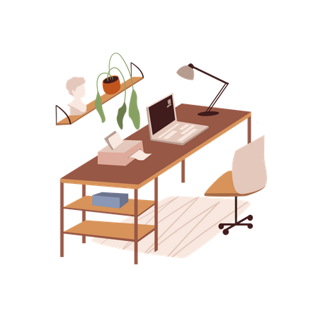 Working Deak Illustration