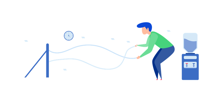 Workout With Rope Illustration