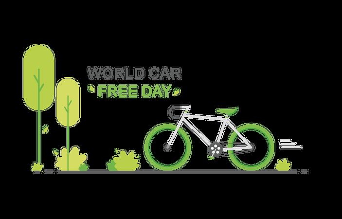 World car free day Illustration