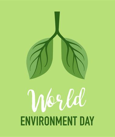 World Environment day, go green concept Illustration