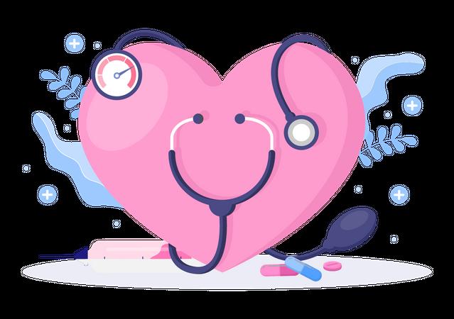 World Hypertension Day Illustration