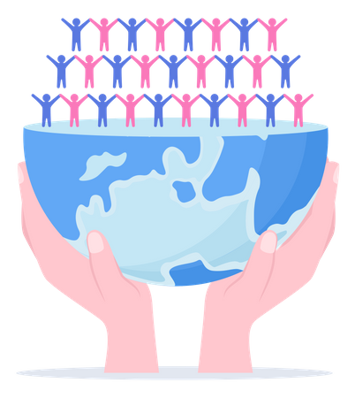 World Population Awareness Illustration