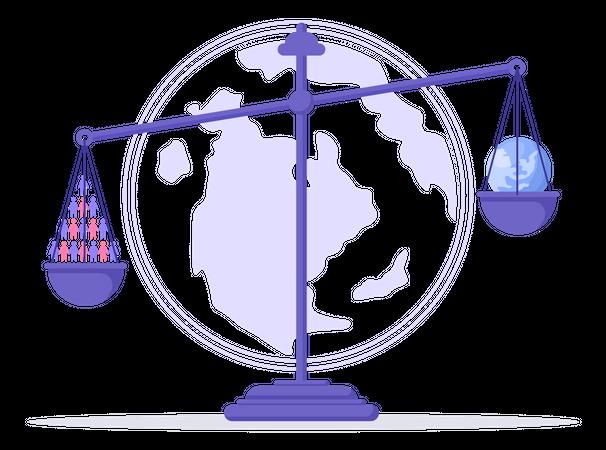 World Population Issue Illustration