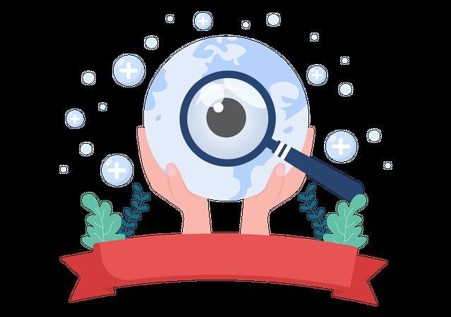 World Sight Day Eye Illustration