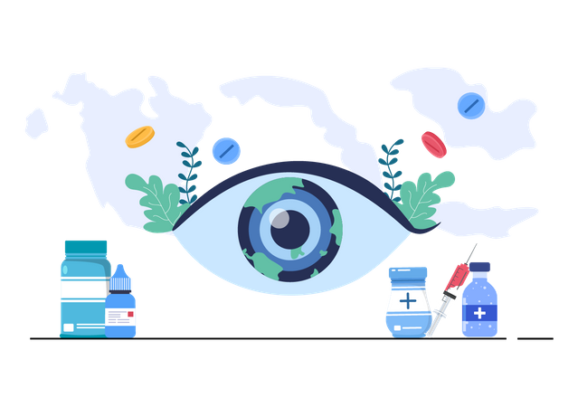 World Sight Day Eye Vector Illustration Illustration