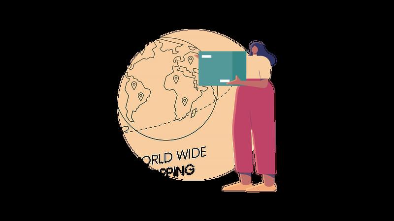 World Wide Shipping Illustration