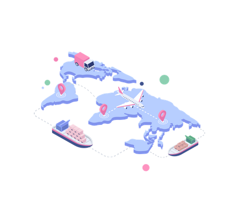 Worldwide Delivery Illustration