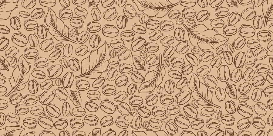 Wrapping Paper Coffee Beans Seamless Pattern Illustration