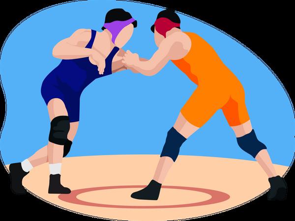 Wrestling Game Illustration